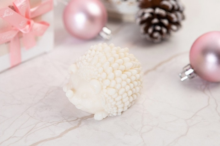 novelty christmas gifts - soy wax hedgehogs