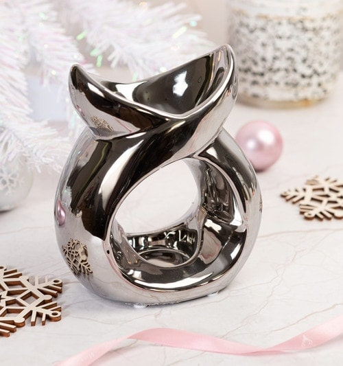 silver serenity wax burner for gift sets