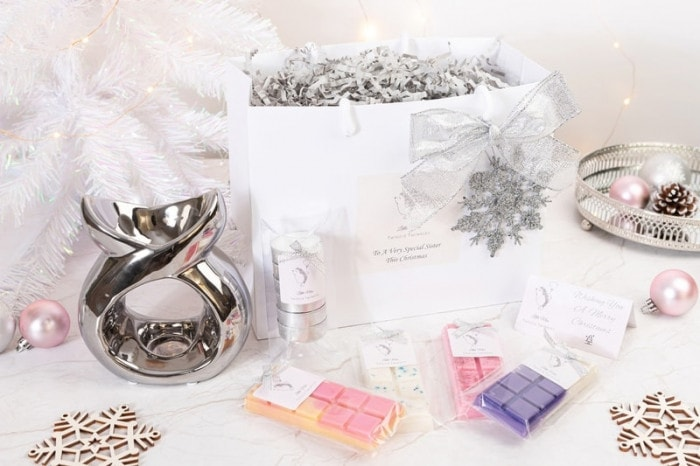 Christmas sister gifts - little miss twiggie twinkles luxury gift bag containing everything needed to make the perfect present for your sister this Christmas