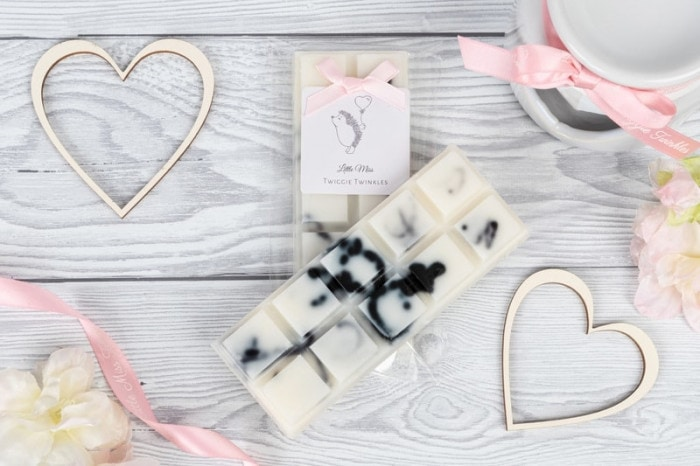 Little Miss Twiggie Twinkles wax melt snap bars inspired by the popular scent Tom Ford Black Orchid